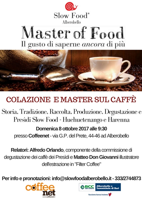 master of food sul caffè