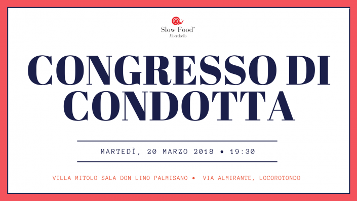 Congresso di Condotta Slow Food Alberobello