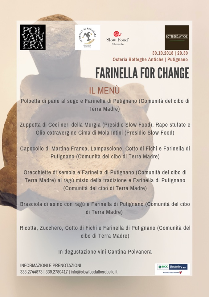 Farinella For Change Menù