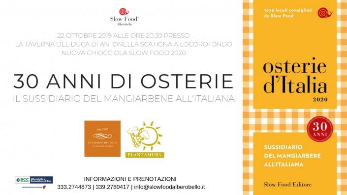 30 anni di Osterie d'italia